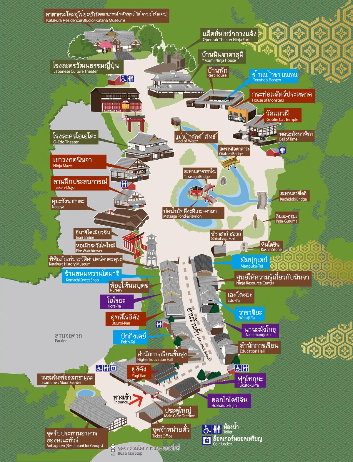 แผนที่ภายในหมู่บ้าน